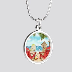 Loving Key West Silver Round Necklace