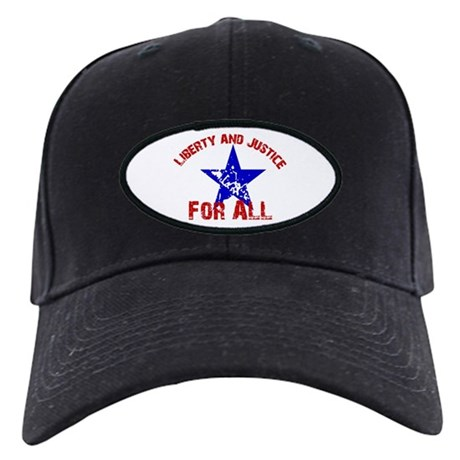 """""""Liberty and Justice for All"""" Black Cap"""
