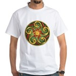 Celtic Pentacle Spiral White T-Shirt