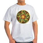 Celtic Pentacle Spiral Light T-Shirt