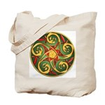 Celtic Pentacle Spiral Tote Bag