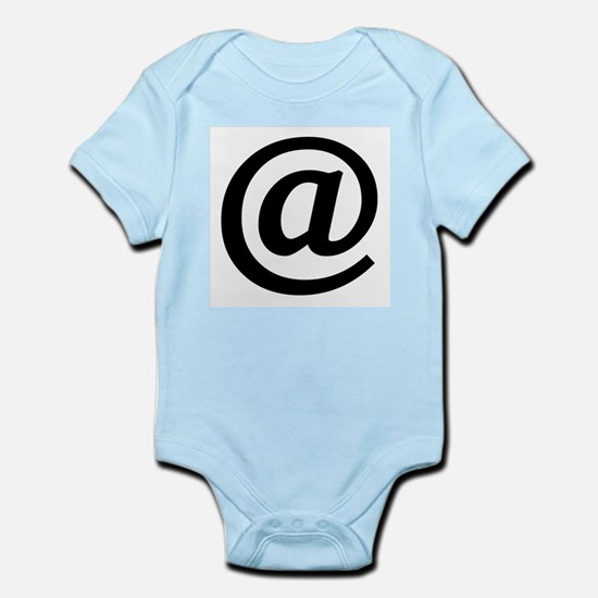 Vintage At Sign Infant Bodysuit
