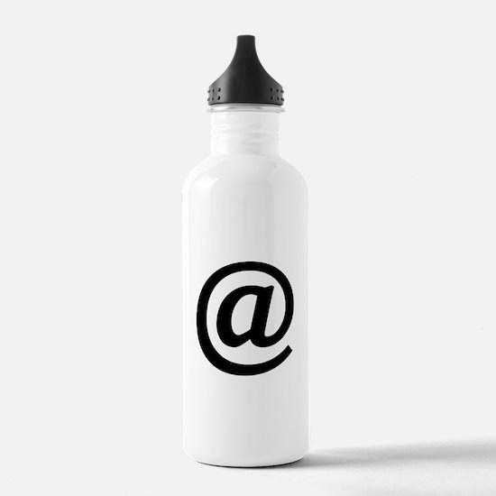 Vintage At Sign Water Bottle