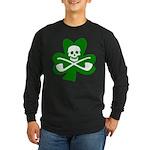 Shamrock Jolly Roger Long Sleeve Dark T-Shirt
