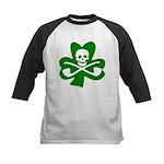 Lucky Leprechaun Pirate Kids Baseball Jersey