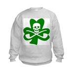 Lucky Leprechaun Pirate Kids Sweatshirt