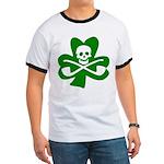 St. Patrick's Day Jolly Roger Ringer T