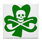 Irish Jolly Roger Tile Coaster