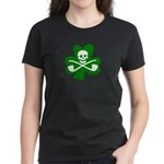 Shamrock Jolly Roger Women's Dark T-Shirt