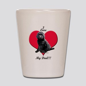 Black Golden Doodle Love Dad Shot Glass