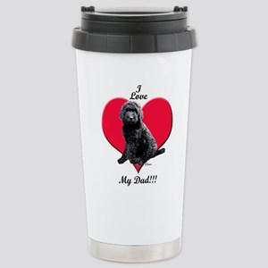 Black Golden Doodle Love Dad Travel Mug