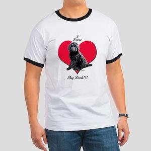 Black Golden Doodle Love Dad T-Shirt