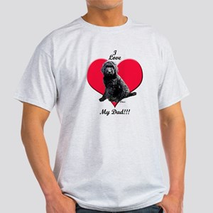 Black Golden Doodle Love Dad T-Shirt