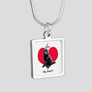 Black Golden Doodle Love Dad Necklaces