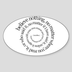 buddha quote Oval Sticker