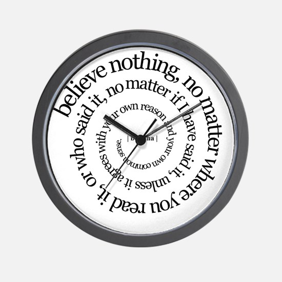 buddha quote Wall Clock