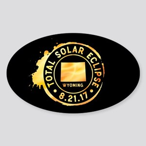 Eclipse Wyoming Sticker (Oval)