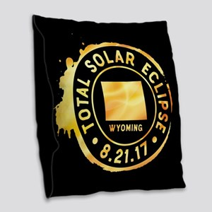 Eclipse Wyoming Burlap Throw Pillow
