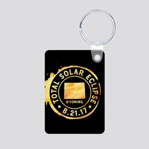 Eclipse Wyoming Aluminum Photo Keychain