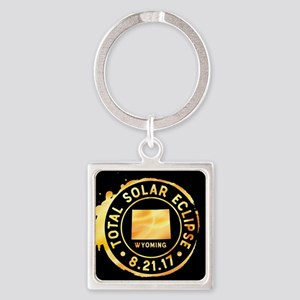 Eclipse Wyoming Square Keychain