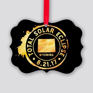 Eclipse Wyoming Picture Ornament