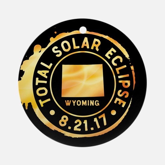Eclipse Wyoming Round Ornament