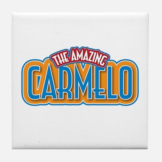 The Amazing Carmelo Tile Coaster