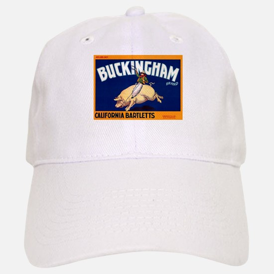 Antique 1920 Buckingham Pig Fruit Label Baseball C