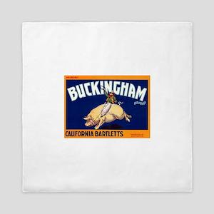 Antique 1920 Buckingham Pig Fruit Label Queen Duve