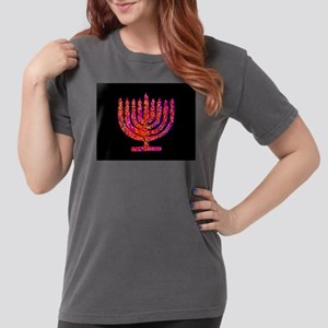 Pink Menorah fo 4Berth Womens Comfort Colors Shirt