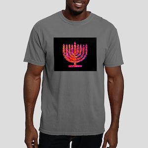 Pink Menorah fo 4Bertha Mens Comfort Colors Shirt