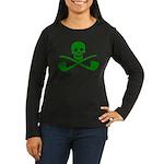 Leprechaun Pirate Women's Long Sleeve Dark T-Shirt