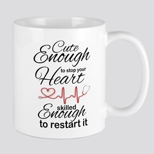 NURSE: CUT ENOUGH TO STOP YOUR HEART... Mugs