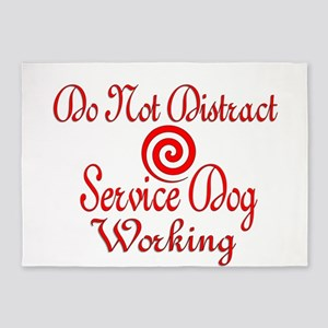 SERVICE DOG WORK 5'x7'Area Rug