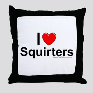 Squirters Throw Pillow
