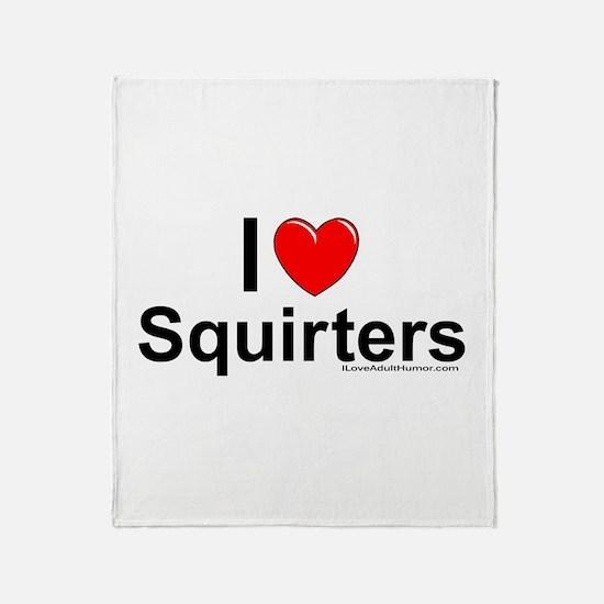 Squirters Throw Blanket