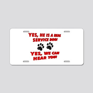 SERVICE DOG WORK Aluminum License Plate