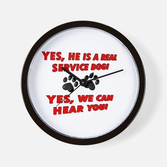 SERVICE DOG WORK Wall Clock