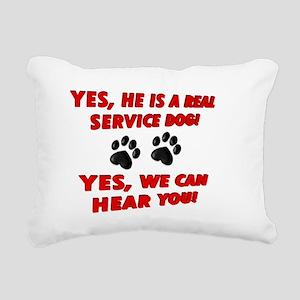 SERVICE DOG WORK Rectangular Canvas Pillow
