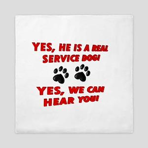 SERVICE DOG WORK Queen Duvet