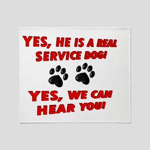 SERVICE DOG WORK Throw Blanket