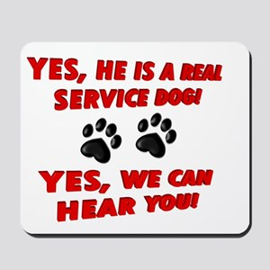 SERVICE DOG WORK Mousepad