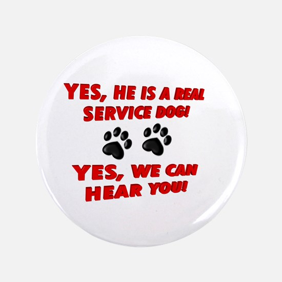 SERVICE DOG WORK Button