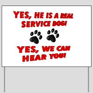 SERVICE DOG WORK Yard Sign