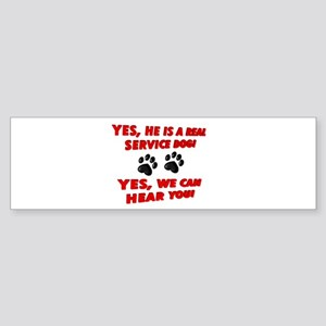 SERVICE DOG WORK Bumper Sticker