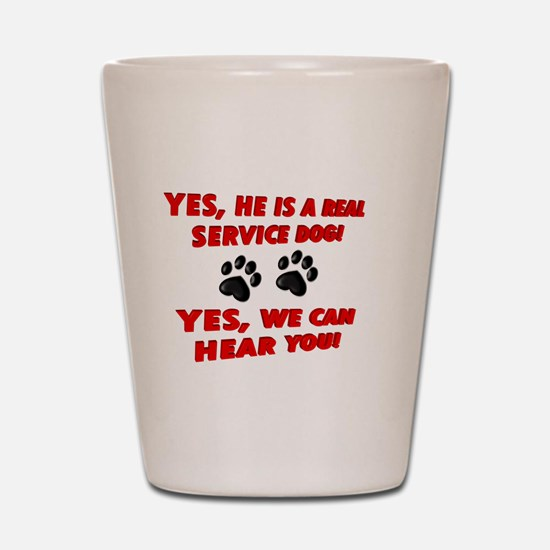 SERVICE DOG WORK Shot Glass