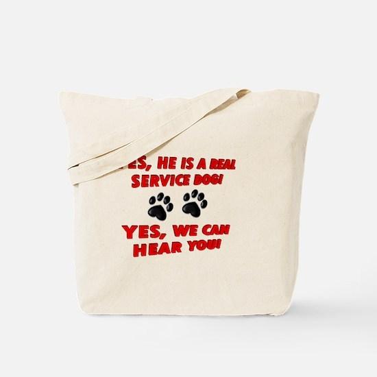 SERVICE DOG WORK Tote Bag