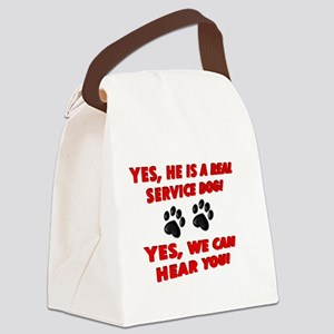 SERVICE DOG WORK Canvas Lunch Bag