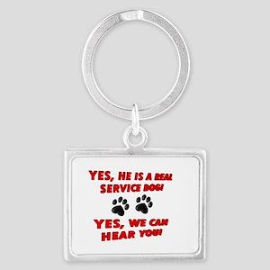 SERVICE DOG WORK Keychains