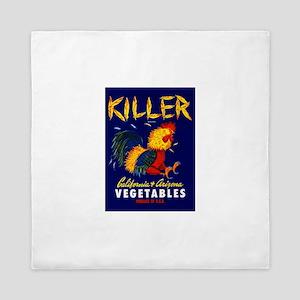 1940 Fighting Rooster Vegetable Crate Label Queen